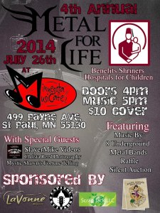 Metal For life Benefit Flyer
